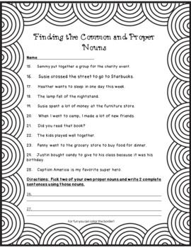 No-Prep Finding the Common and Proper Nouns