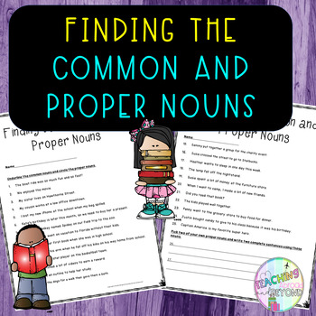 Finding the Common and Proper Nouns