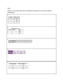 Finding the Constant of Proportionality from a Table Indep