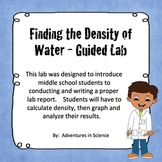 Finding the Density of Water Guided Lab