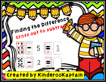 Finding the Difference Cross Out to Subtract