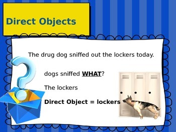 Finding the Direct Object