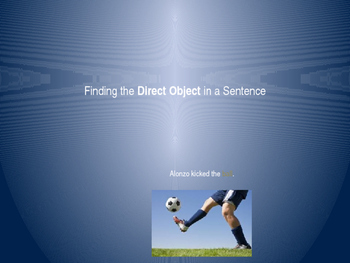 Finding the Direct Object in a Sentence