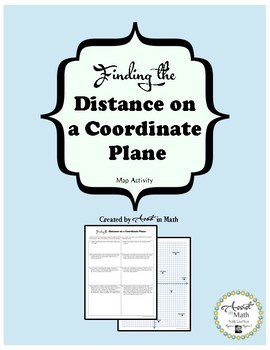 Finding the Distance on a Coordinate Plane Map Activity