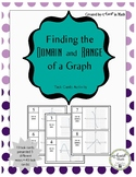 Finding the Domain and Range of a Graph Task Card Activity