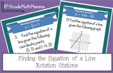 Finding the Equation of a Line Rotation Stations