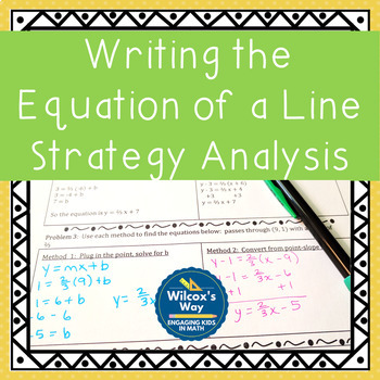 Writing the Equation of a Line (with point and slope) Strategy Analysis