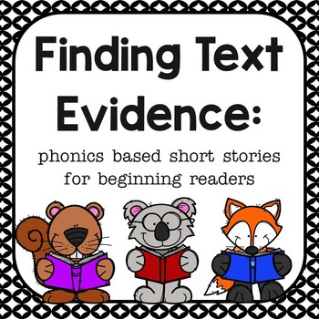 Finding the Evidence for beginning readers