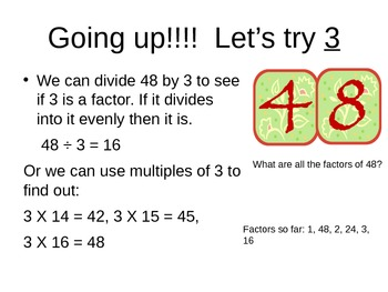 Finding the Factors of a Number
