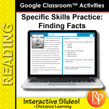Google Classroom™ Activities: Finding the Facts