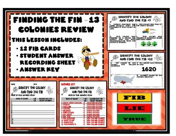 Finding the Fib - 13 Colonies Review Game