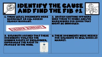 Finding the Fib - Causes of the American Revolution Review