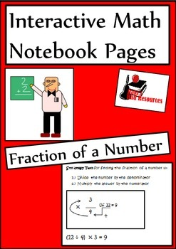 Finding the Fraction of a Number for Interactive Math Notebooks