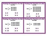 Finding the Fraction of a Set Array Cards Common Core
