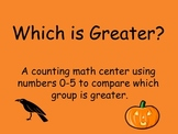 Finding the Greater Number Math Center