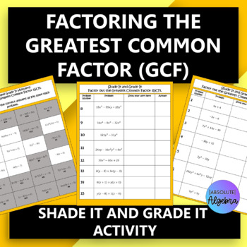 Factoring the Greatest Common Factor (GCF)