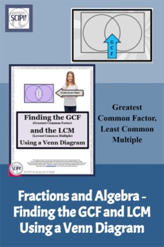Finding the GCF and LCM  for Fractions and Algebra Using a Venn Diagram