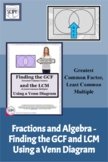 Algebraic Terms and Fractions: Finding the GCF and LCM Usi
