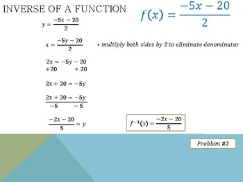 Finding the Inverse of a Linear Function