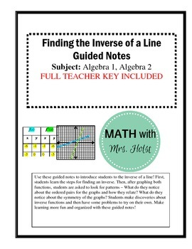 Finding the Inverse of a Line Guided Notes