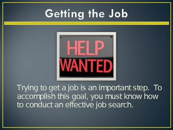 Getting the Job PowerPoint Unit