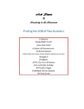 Finding the LCM of Two Numbers - Games, Practice Pages, and Quizzes