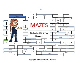 Finding the LCM of Two Numbers - Mazes