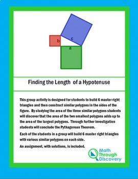 Geometry:  Finding the Length of a Hypotenuse