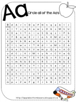 Finding the Letter A