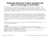 Finding the Main Idea Graphic Organizer with Space for Dra