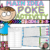 Finding the Main Idea & Important Details: POKE Activity