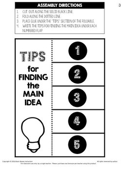 Finding the Main Idea - Interactive Notebook - 3-Days of Fun Lesson Plans