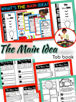 Finding the Main Idea Interactive Tab Booklet (Comprehension Unit)