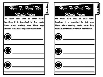 The Main Idea Interactive Tab Booklet (Comprehension Unit)