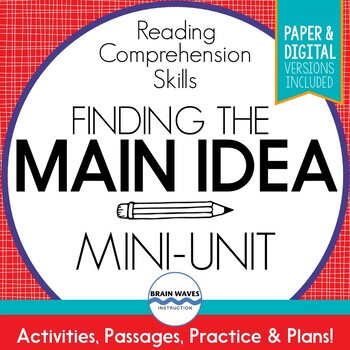 Main Idea and Supporting Details Passages, Worksheets, and Graphic Organizers