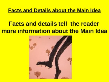Finding the Main Idea and Details for Reading Passage