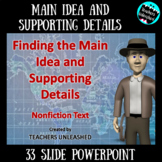 Main Idea and Supporting Details PowerPoint Lesson and Notes