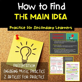 Finding the Main Idea in Nonfiction Texts | Secondary ELA