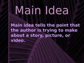 Finding the Main Idea of an Image or Video