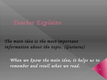 Finding the Main Idea ppt