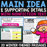Finding the Main Idea with Supporting Details - Winter Passages
