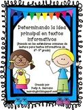 Teaching Main Idea in Spanish ( No Prep / Common Core Aligned )