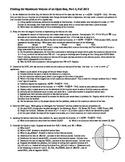 Calculus: Finding the Maximum Volume of an Open Box Part 3 Fall 2013