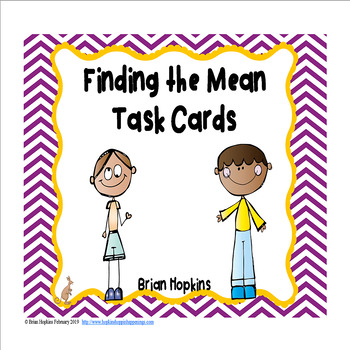 Finding the Mean Task Cards