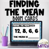 Finding the Mean or Average Boom Cards - Perfect for Dista