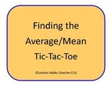 Finding the Mean (Average) Tic-Tac-Toe