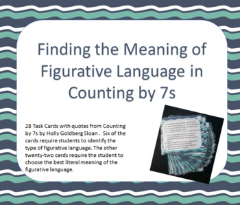 Finding the Meaning of Figurative Language in Counting by 7s