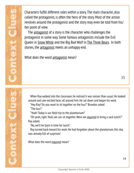 Finding the Meaning of Unknown Words: Context Clue Cards with Graphic Organizer