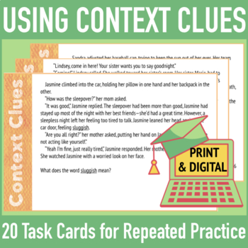Finding the Meaning of Unknown Words: Context Clue Cards w