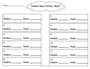 Finding the Median and Mean of a Set of Data